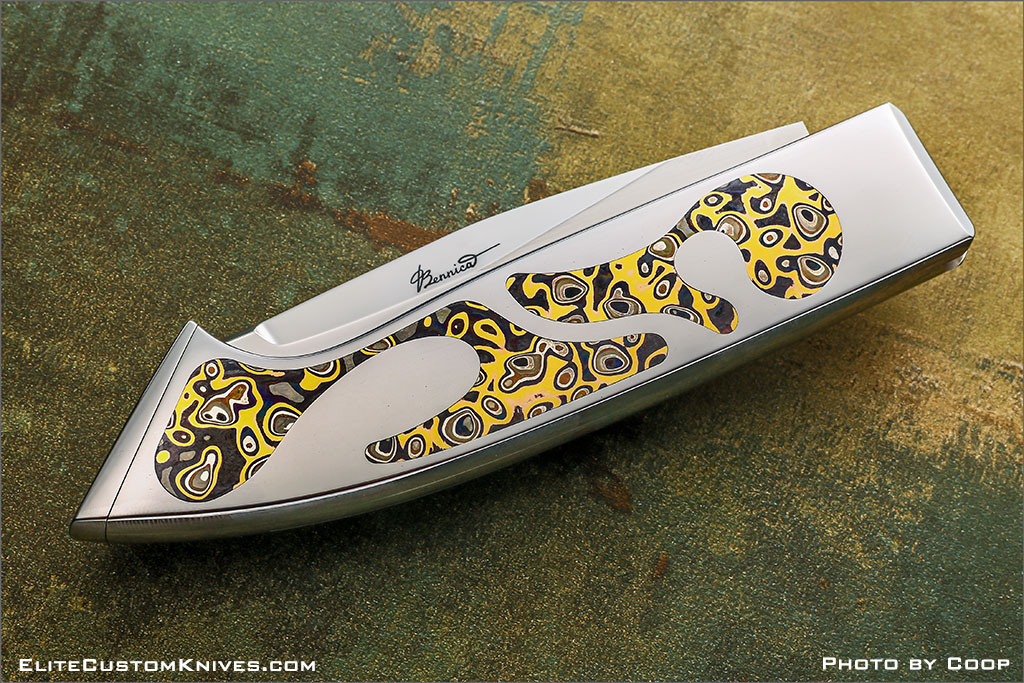 """Custom Made Knives - Charly Bennica """"Puzzle"""""""
